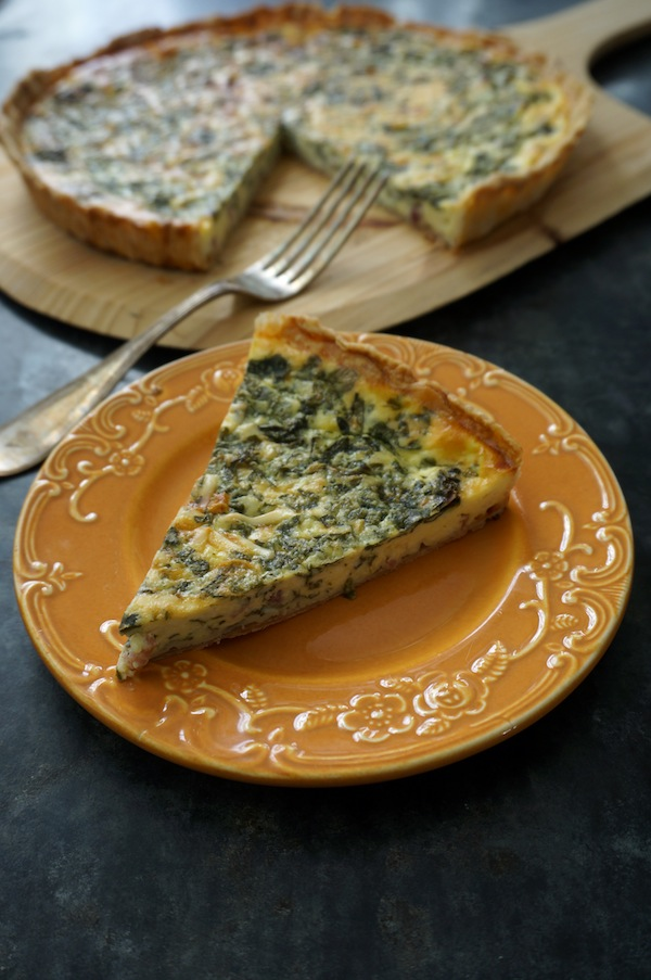 Spinach and Speck Quiche