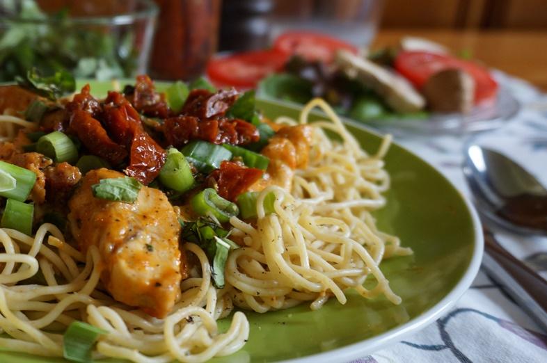 Cajun Cheddar Chicken Pasta