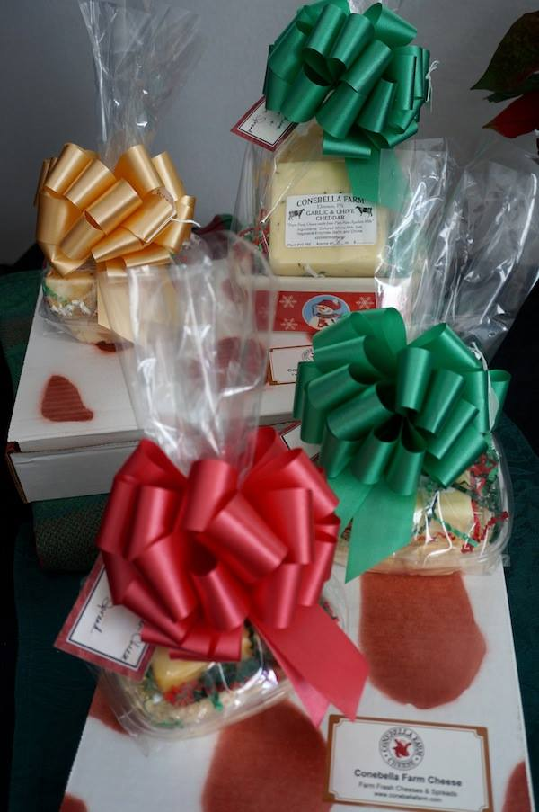 Handcrafted christmas artisan cheese hand designed