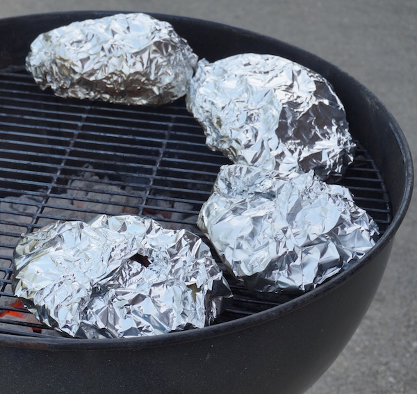Potato packs on grill
