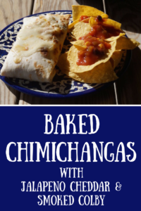 This baked chimichanga recipe capitalizes on Conebella Farm Jalapeño Cheddar Spread and Conebella Farm Smoked Colby. It's creamy and delightfully spicy.
