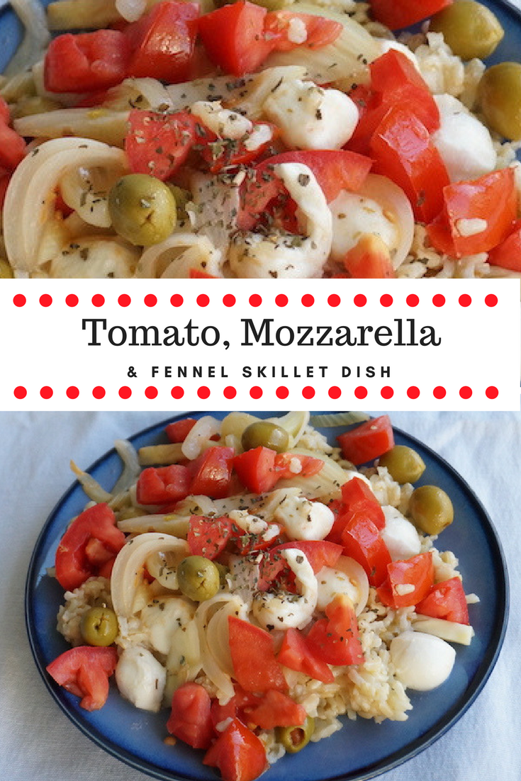 An easy weeknight meal, bursting with veggie flavor and salty, creamy #mozzarella goodness