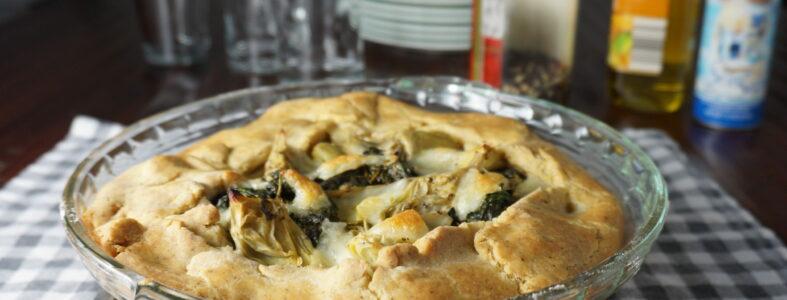 Spinach Mozzarella Galette